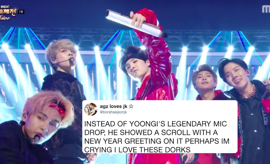 the videos of bts mbc gayo daejejun performances show exactly why