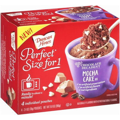Duncan Hines Perfect Size for 1 Mocha Cake Mix