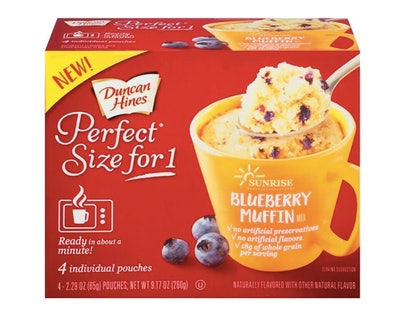 Duncan Hines Perfect Size for 1 Blueberry Muffin Mix