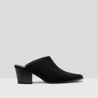 Felicia Black Velvet Mules