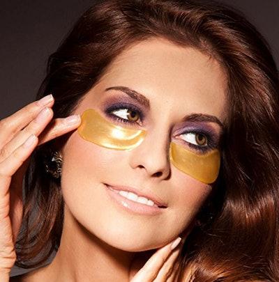 HAWWWY Gold Eye Masks (10 Pack)