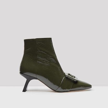 Henriette Calke Green Glossed Boots