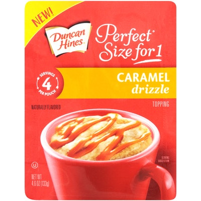Duncan Hines Perfect Size for 1 Caramel Drizzle