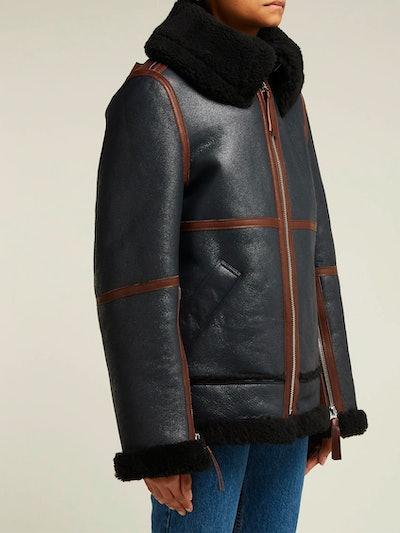 Panelled Shearling Jacket