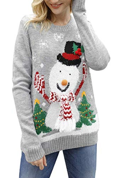 Snowman Knitted Sweater
