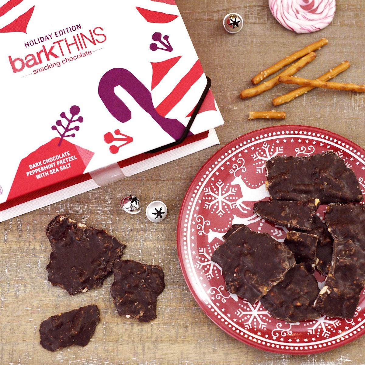 barkThins Dark Chocolate Christmas Gift Box