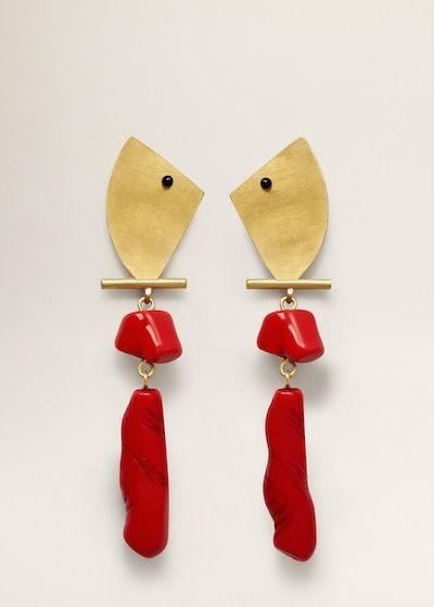 Resin Metal Earrings