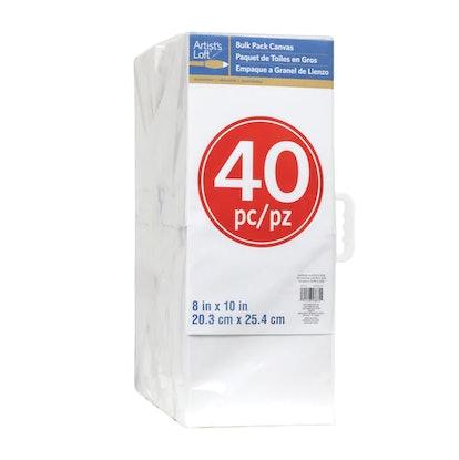 "40 Piece 8"" x 10"" Canvas Pack By Artist's Loft"
