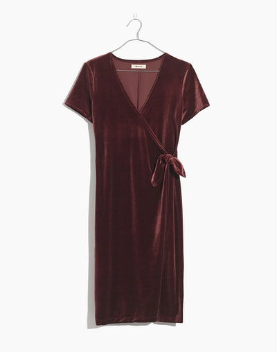 Velvet Side-Tie Dress