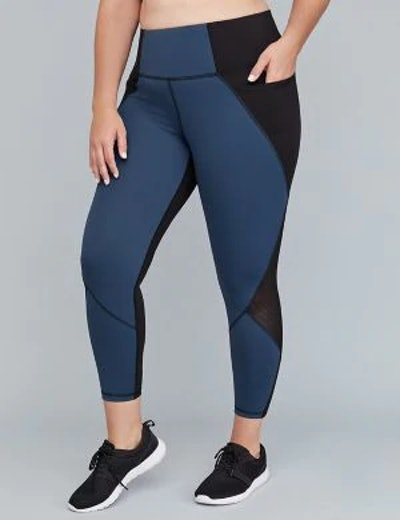 Sculpting Active 7/8 Legging - Colorblock & Mesh