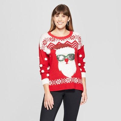 Sunglasses Santa Ugly Christmas Sweater