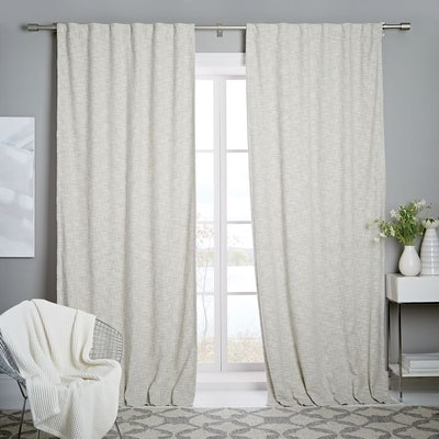Cotton Textured Weave Curtain + Blackout Lining
