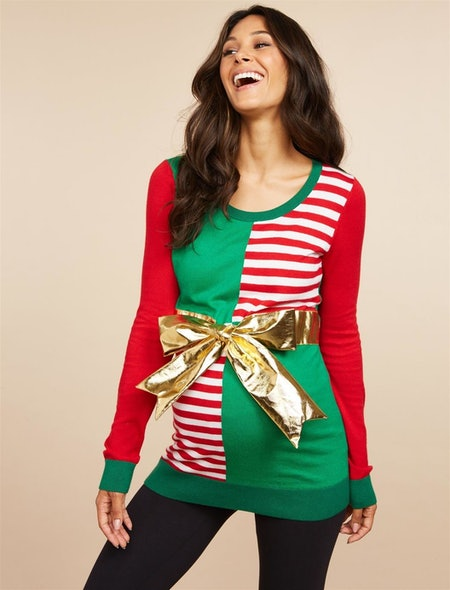 Ugly Christmas Maternity Sweater