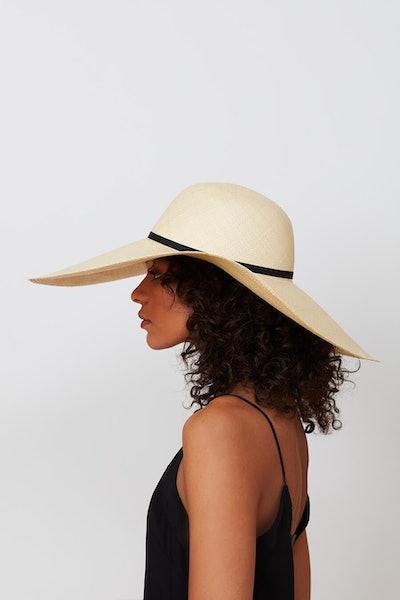 Oversized Straw Beach Hat