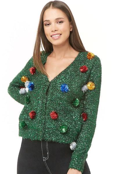 Tinsel Christmas Cardigan