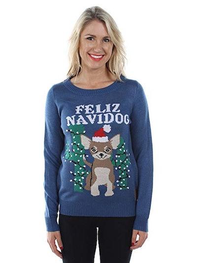 Feliz Navidog Ugly Christmas Sweater
