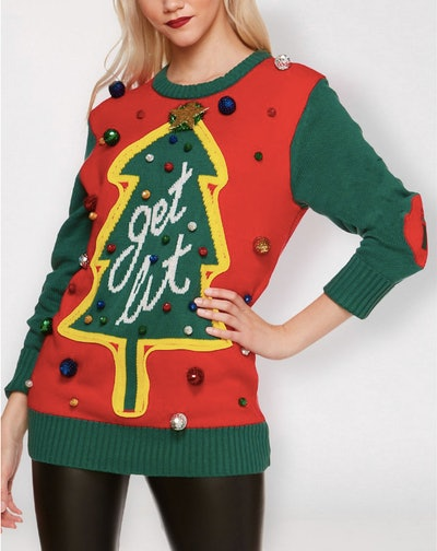 Light Up Get Lit Ugly Christmas Sweater