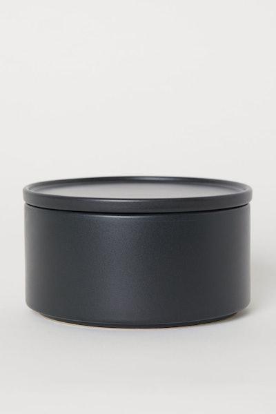 Round Stoneware Box