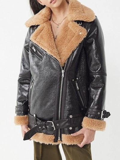 Luxe Moto Sherpa Jacket
