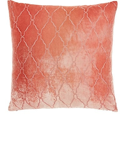 Arches Burnout Silk-Blend Velvet Pillow