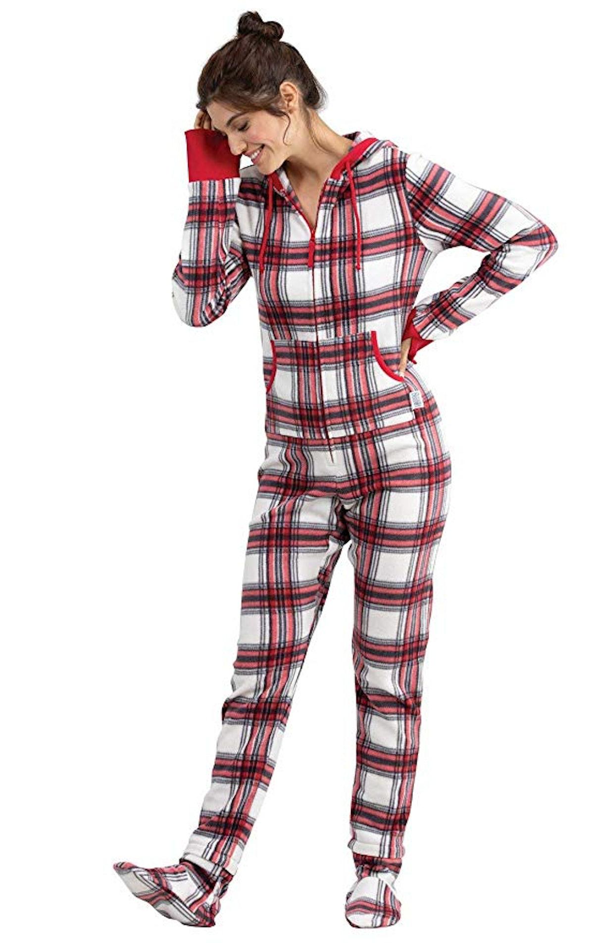 PajamaGram Hoodie-Footie Fleece Onesie Pajamas