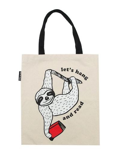 Book Sloth Tote Bag