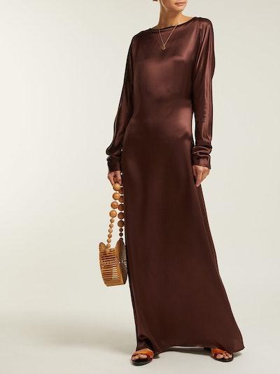 Alma Silk-Satin Maxi Dress