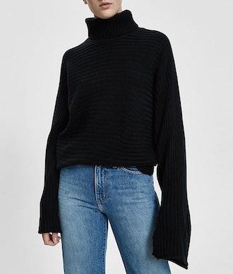 Stella Rib Knit Turtleneck Sweater