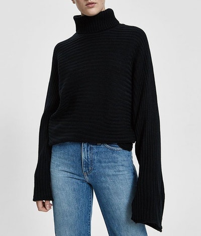 Stella Rib Knit Turtleneck Sweater
