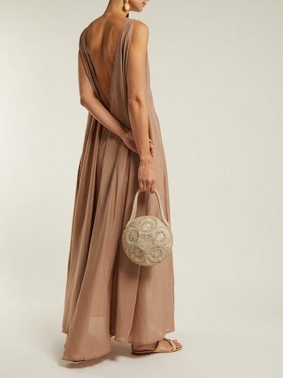 Clemence Cotton-Blend Organza Maxi Dress