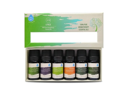 Pursonic Therapeutic Aromatherapy Oils Gift Set (6 Pack)