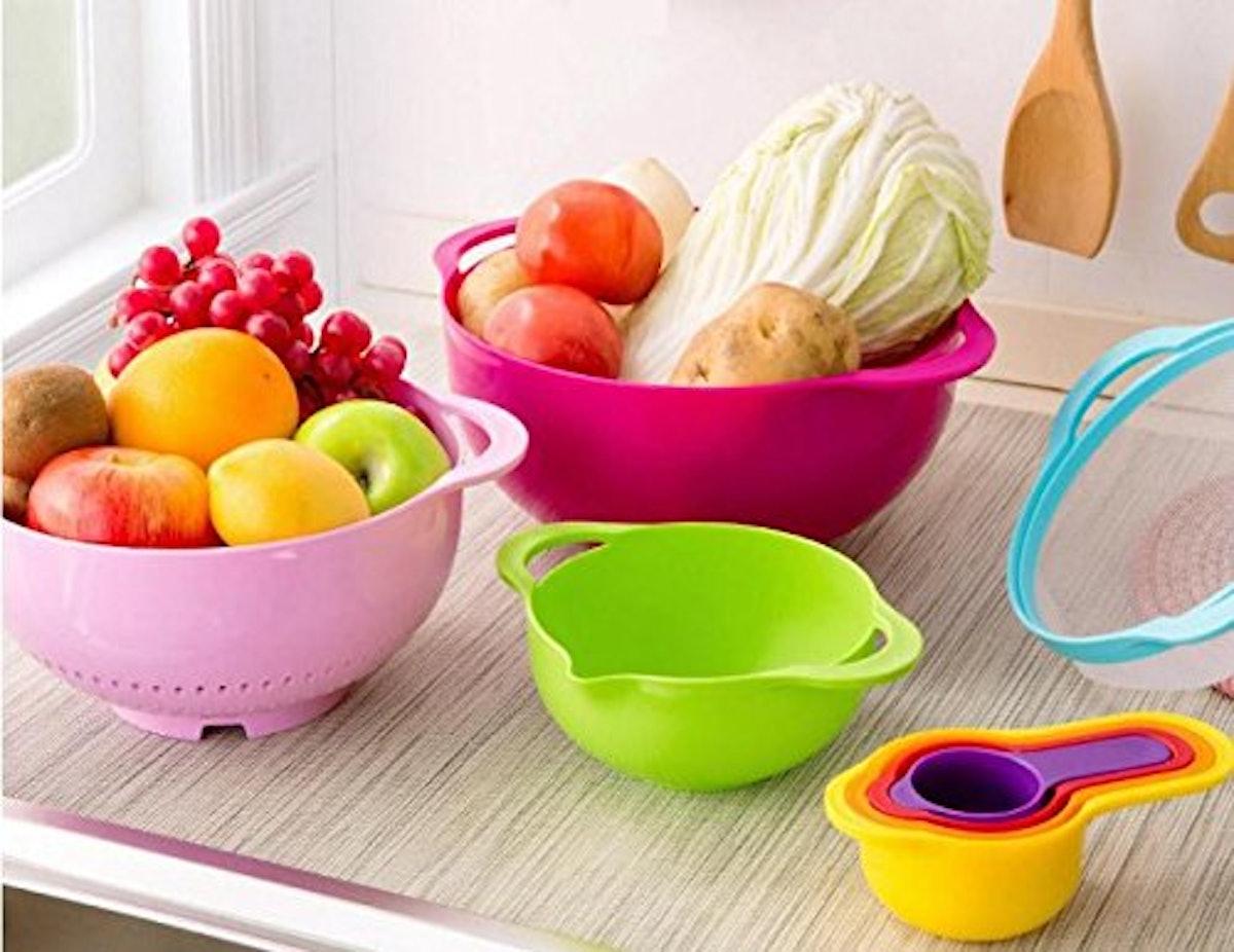 Edofiy Rainbow Stackable Storage Mixing Bowl Set