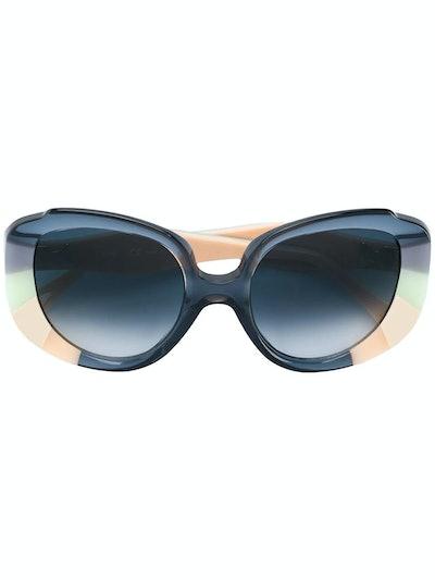 Venus Colour Block Cat Eye Sunglasses