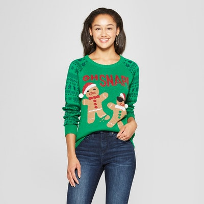 Women's Oh Snap Gingerbread Ugly Sweater