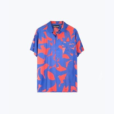 Sun Children Blue Hawaiian Shirt