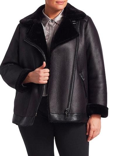 Faux Shearling Biker Jacket