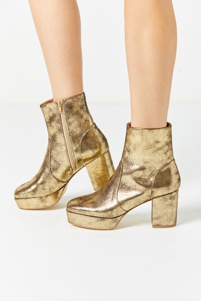 UO Olivia Metallic Platform Boot