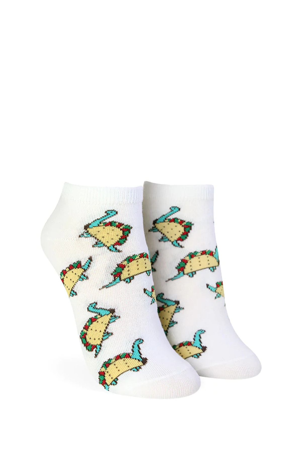 Forever 21 Taco Dinosaur Graphic Ankle Socks