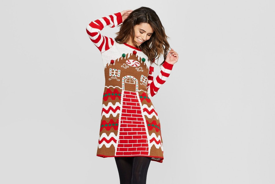 Ugly Holiday Sweater Dresses Are Here For All Of Your Holiday Party