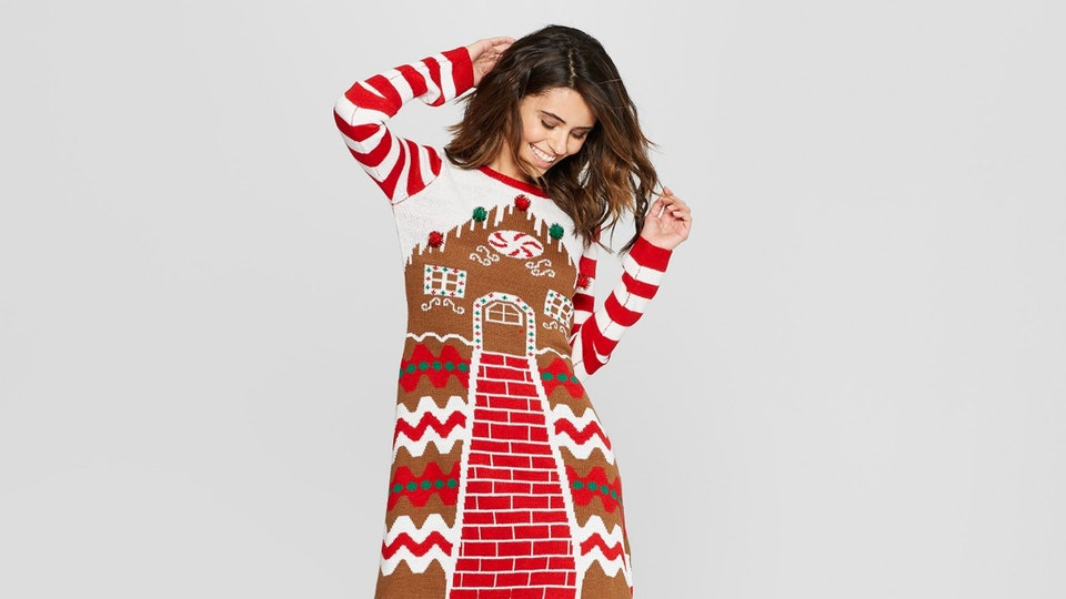 f953c5b20868 Ugly Holiday Sweater Dresses Are Here For All Of Your Holiday Party Needs