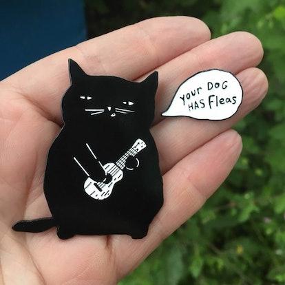 Ukulele Cat Soft Enamel Pin Set