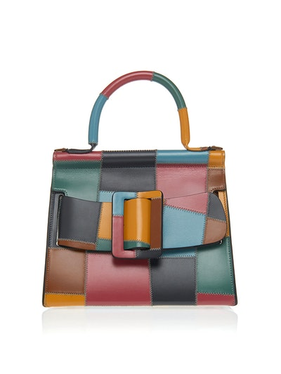 Karl 24 Patchwork Leather Top Handle Bag