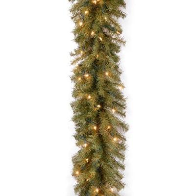 National Tree Company Norwood Fir 9 ft. Prelit Garland