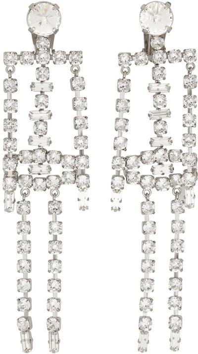 Diamante Skeleton Earrings