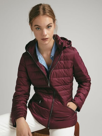 Feather Down Jacket With Detachable Hood