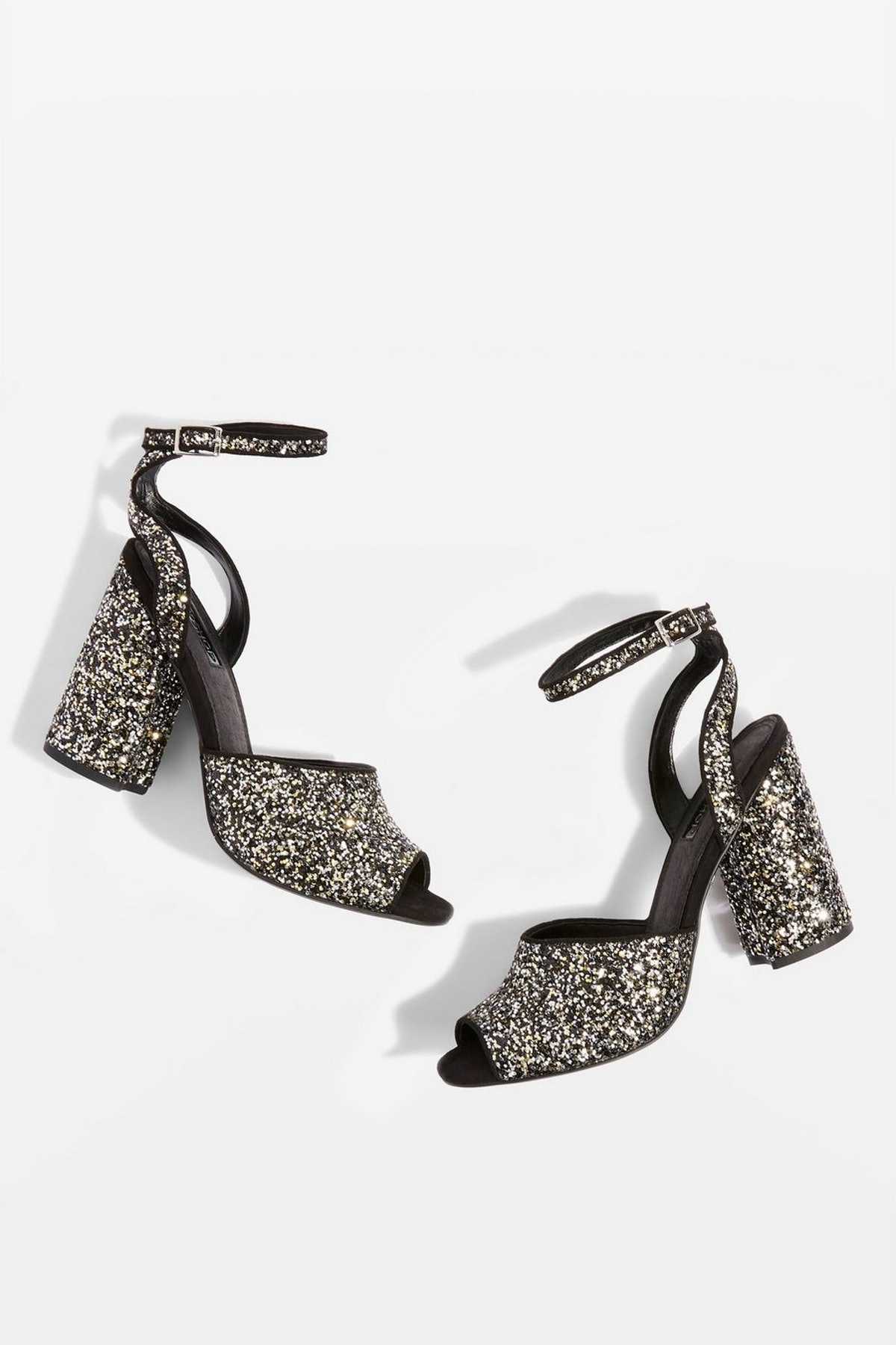 ROCKY Glitter Block Heel Sandals
