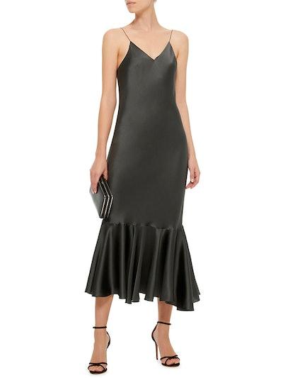 M'O Exclusive Silk-Satin Slip Dress
