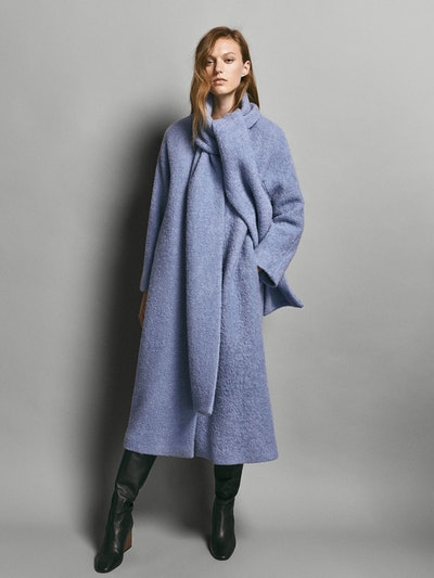 Limited Edition Wool Coat With Detachable Scarf