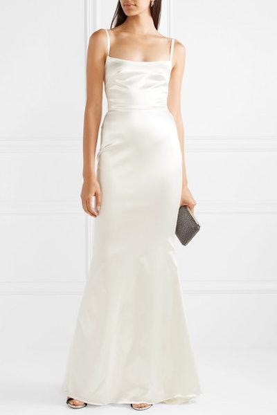 Dion Stretch-Duchesse Satin Gown