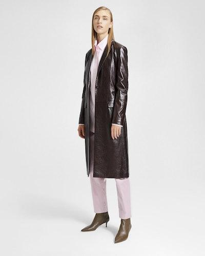 Varnished Leather Coat
